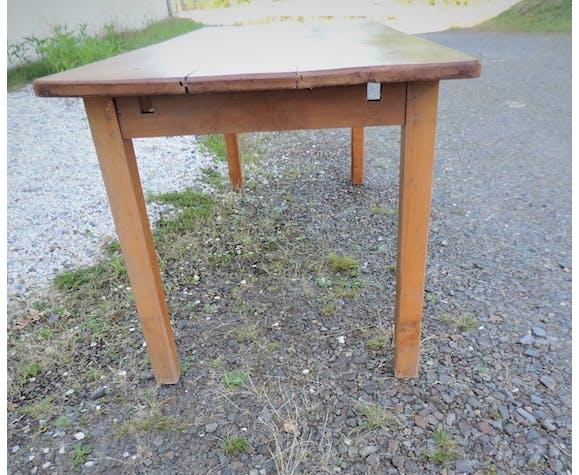 Table de ferme ancienne en merisier