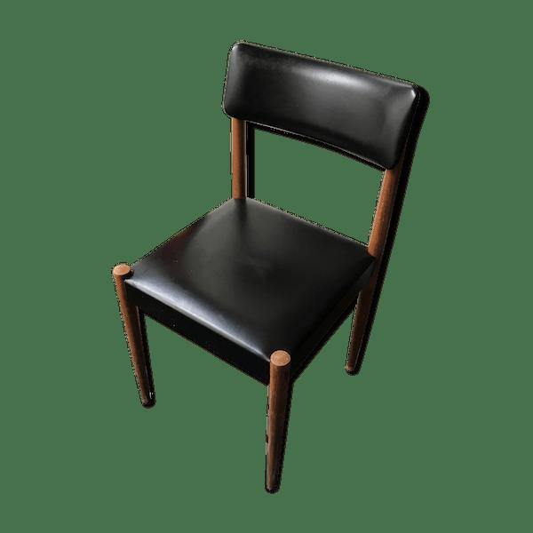 chaise scandinave simili cuir noir ska noir scandinave mmff6f8 - Chaise Scandinave Cuir
