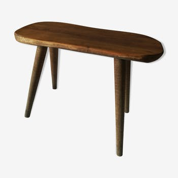 Table d'appoint en bois brut