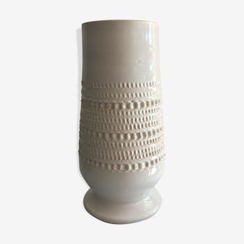 Vase à décor bille, blanc
