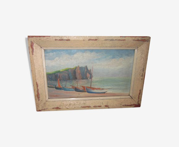 Old painting of the sea view