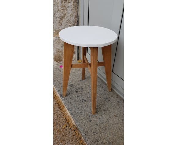 50's wooden stool
