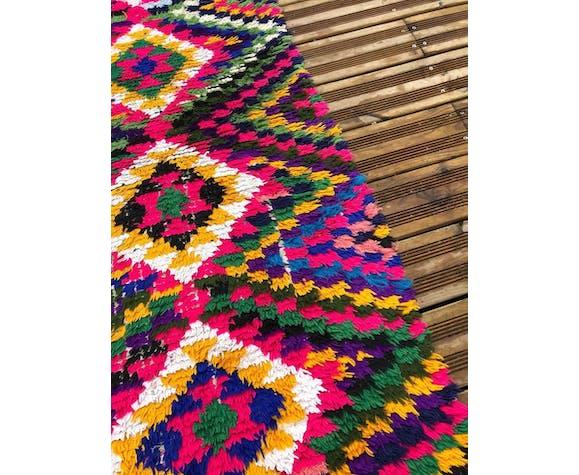 Berber butchery rug in handmade cotton 85x180 cm