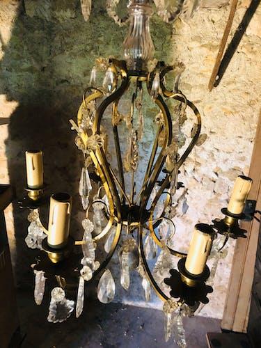 Lustre antique français et charmant