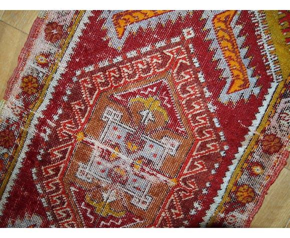 Collectible old carpet Turkish Yastik done hand 44 x 86cm