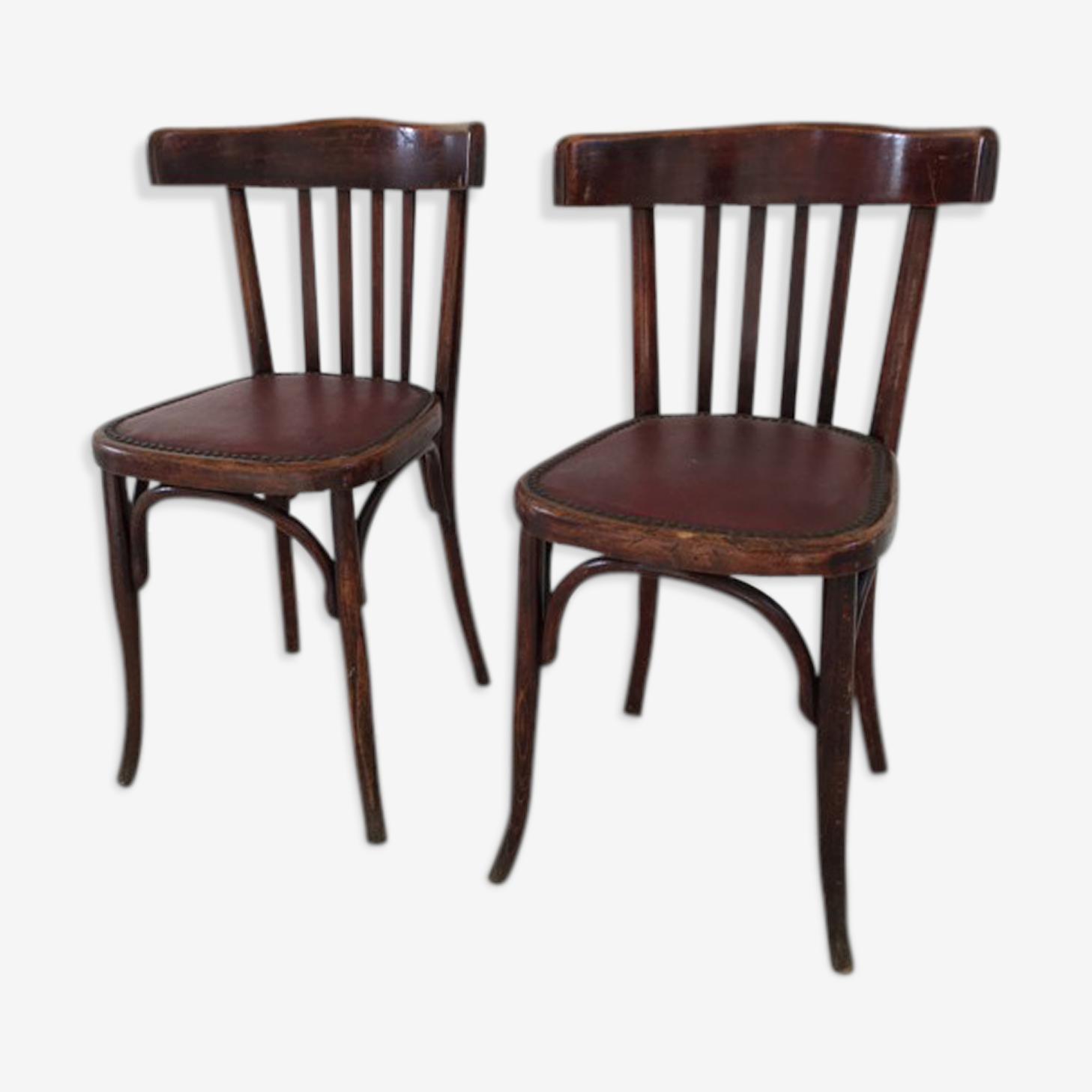 2 chaises bistrot Fischel 1900-1920