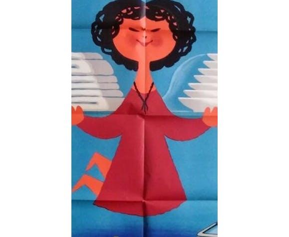 Affiche publicitaire originale de 1962 Miele donne des ailes Jean Desaleux