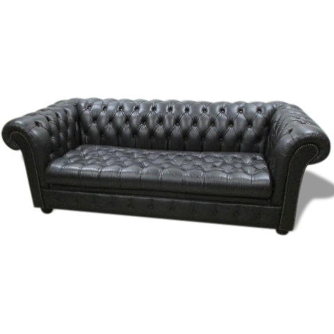 Canapé Chesterfield , Banquette Cuir, Convertible   Leather   Black ...