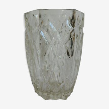 Fabirc french vintage cut glass vase