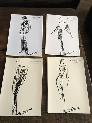 Christian Dior: pretty press fashion illustration - spring-summer 1983 collection