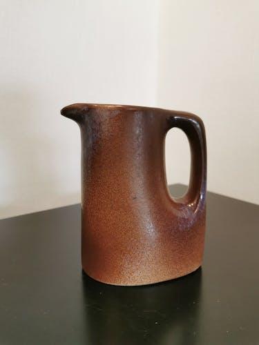 Service à café 4 tasses et sous tasses de potier signé Stocker