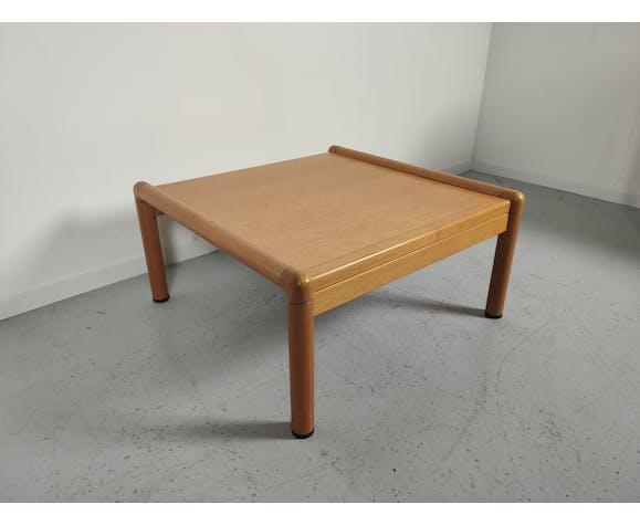 Table basse bois par Elmar Flötotto années 80/90