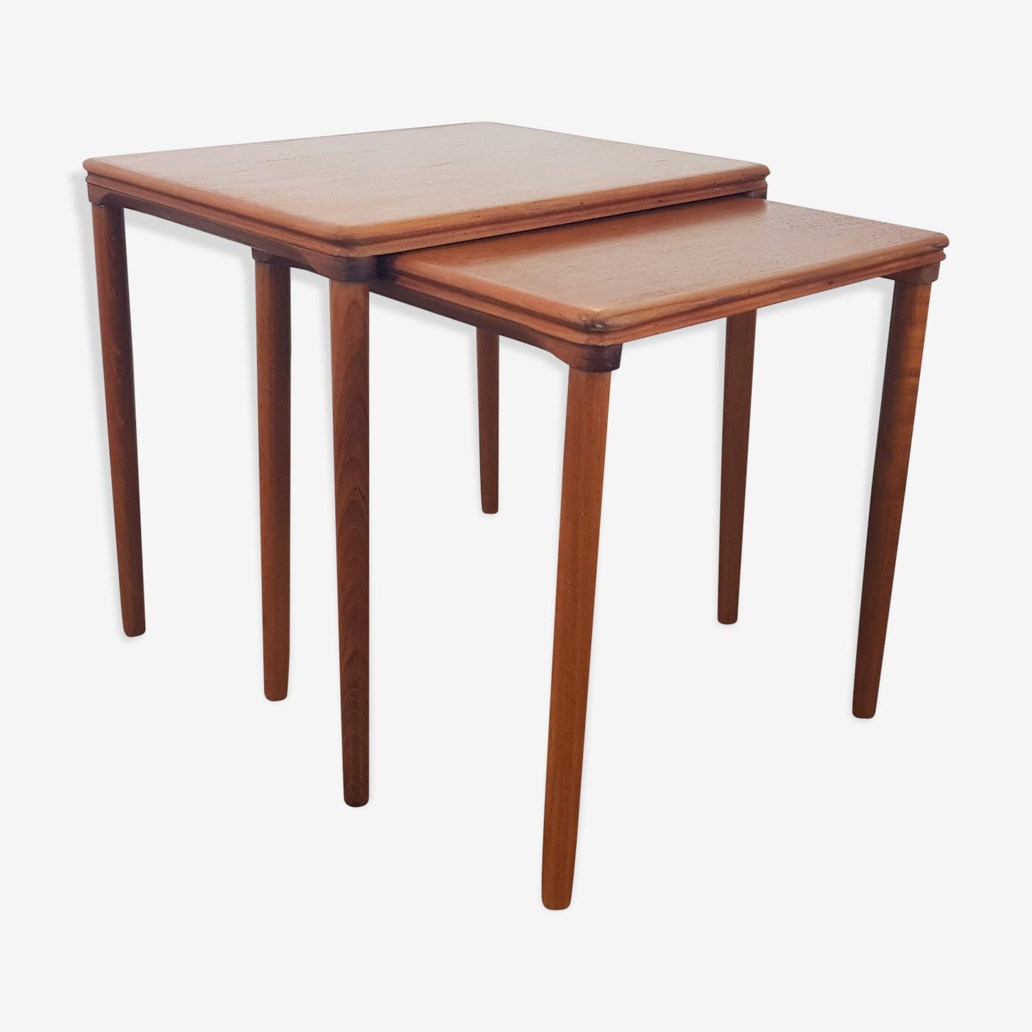 Tables gigognes par E W Bach pour Mobelfabrikken Toften, années 1960