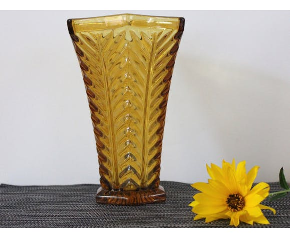 Ancient amber glass vase