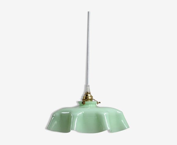 Suspension en opaline vert mint
