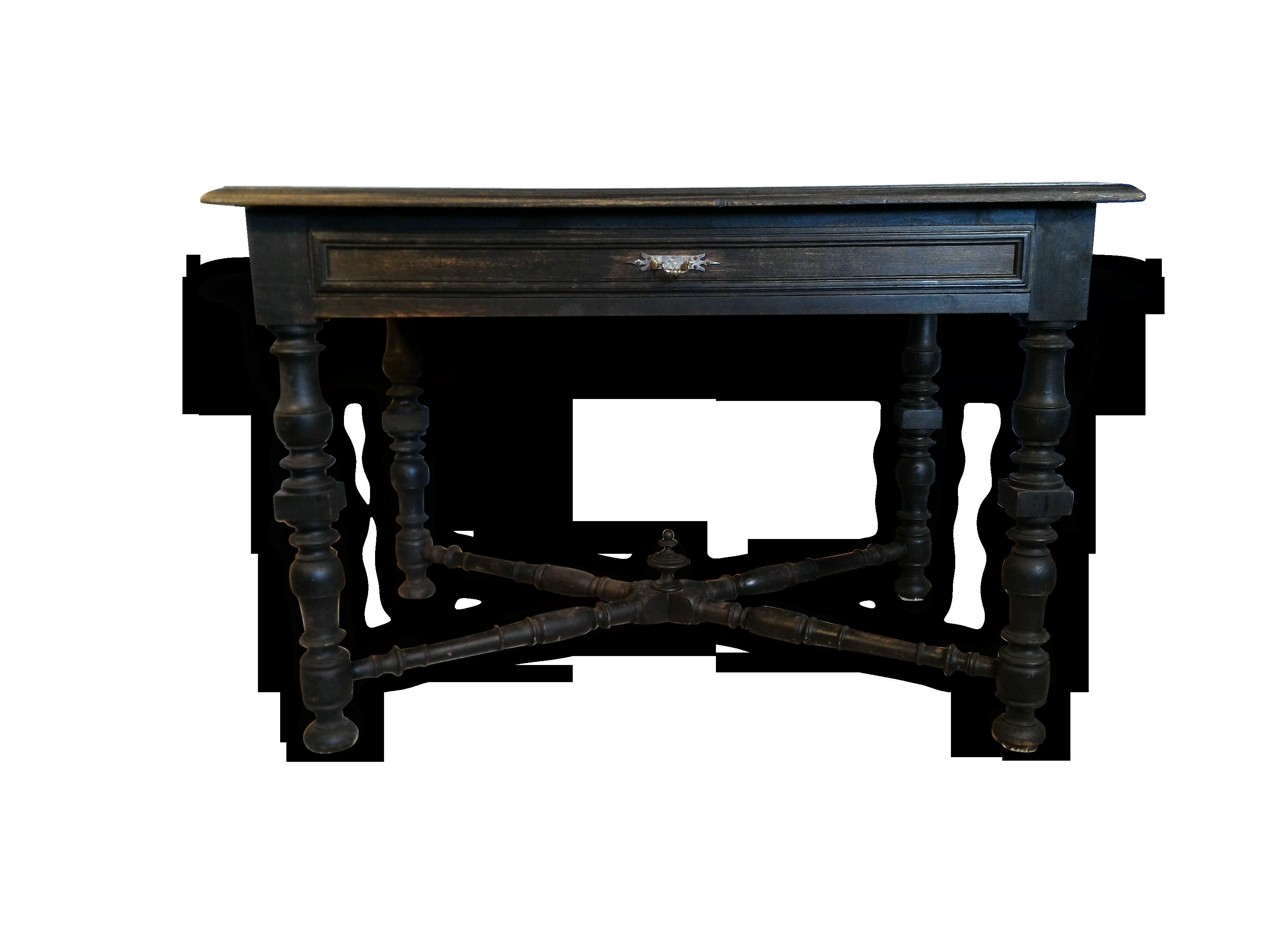 Table bureau époque napoléon bois matériau noir