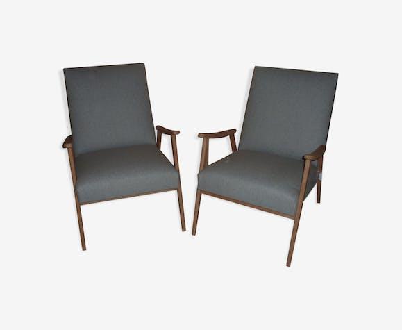 Paire de fauteuils scandinave rénové