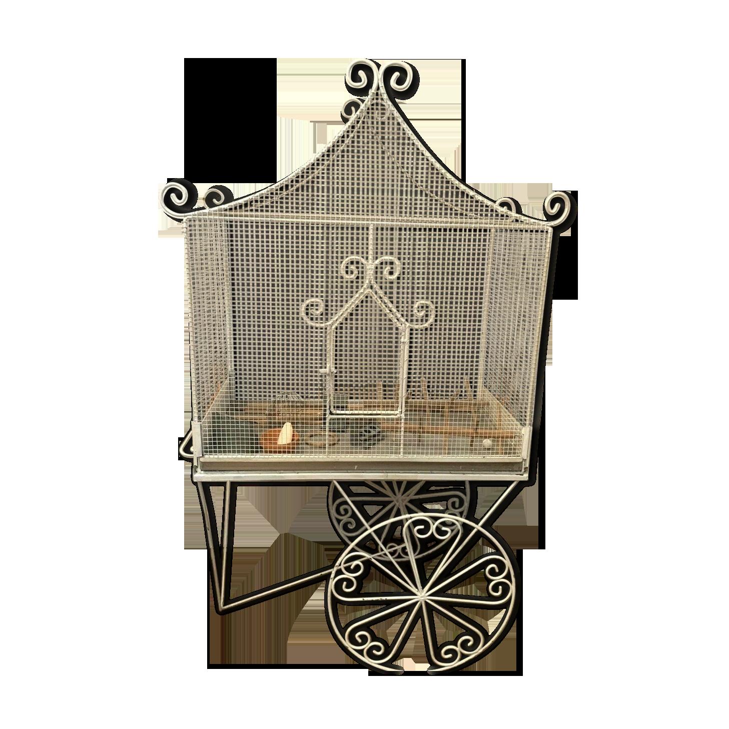 8 4cm Cages /à Oiseaux en Forme de m/étal CAOLATOR Petite Cage /à Oiseaux Int/érieur Ext/érieur ou Voli/ère D/écorative de Forme en Fer Patin/é 14
