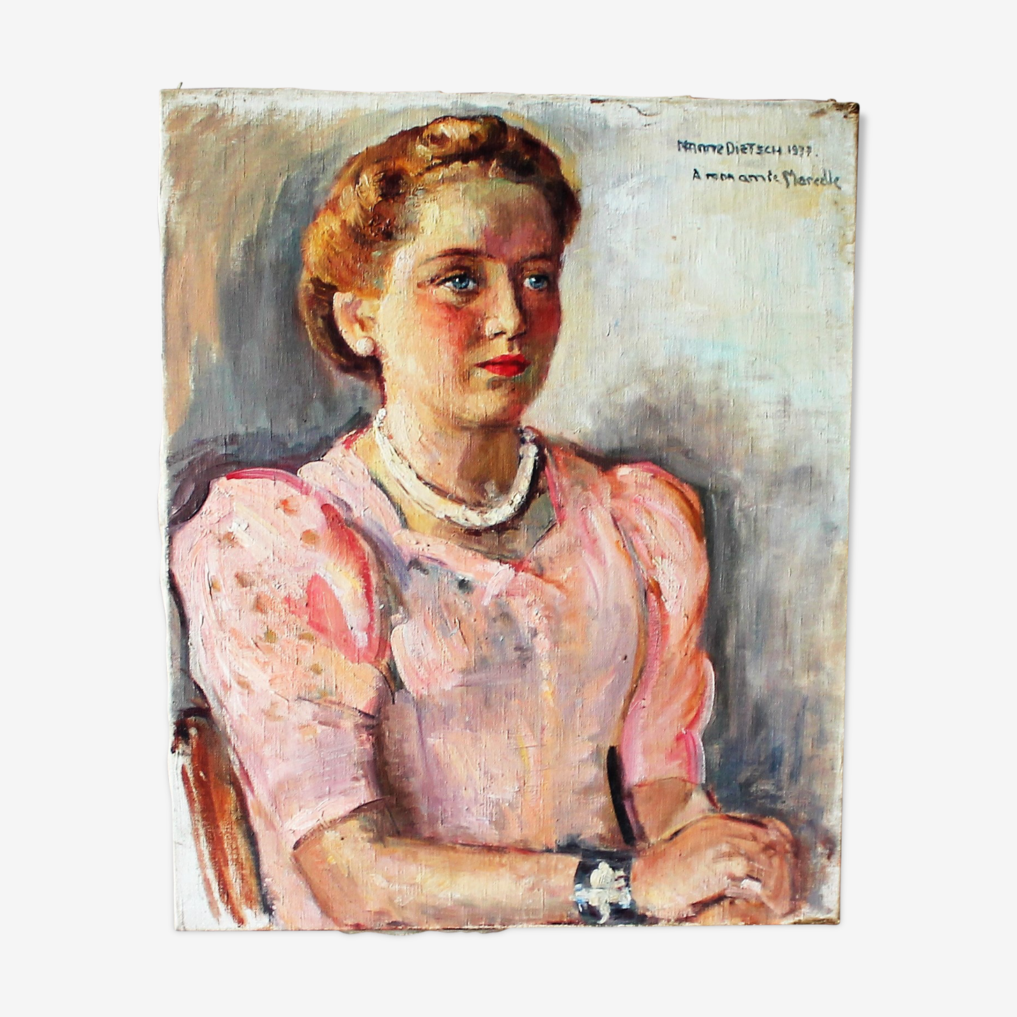 Portrait on canvas of 1937