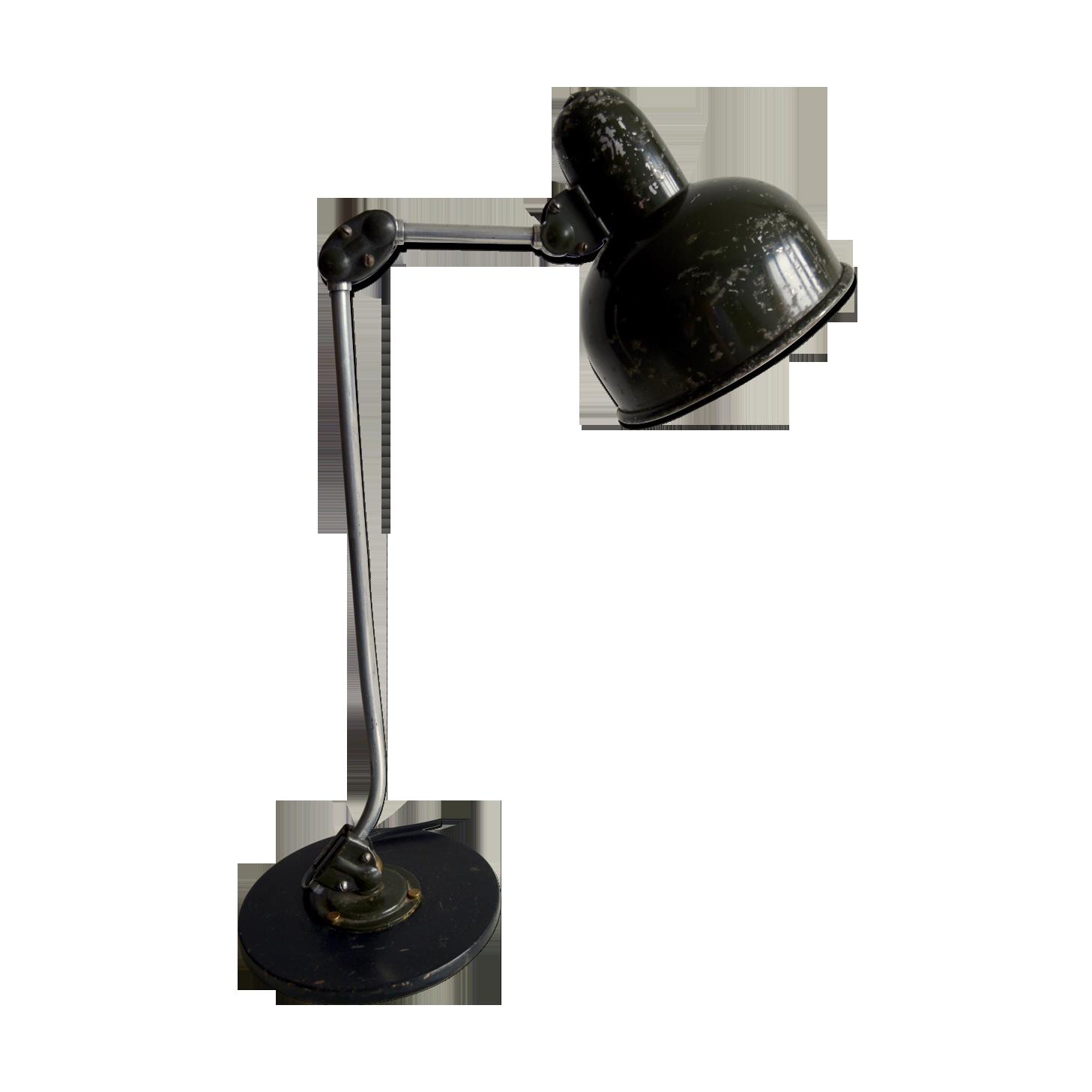 Lampe de bureau de l armée métal noir vintage zynzpxc