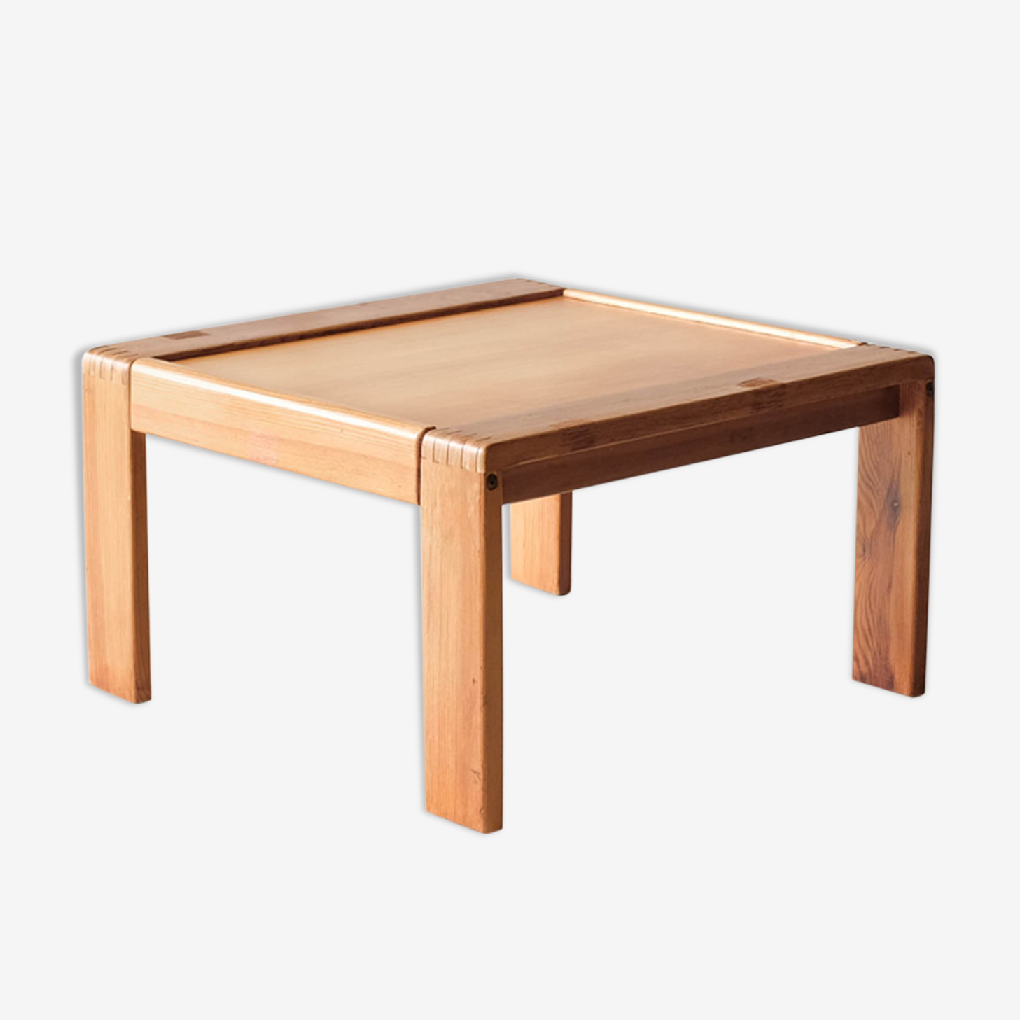 Table basse bois, style moderniste - Circa 1970