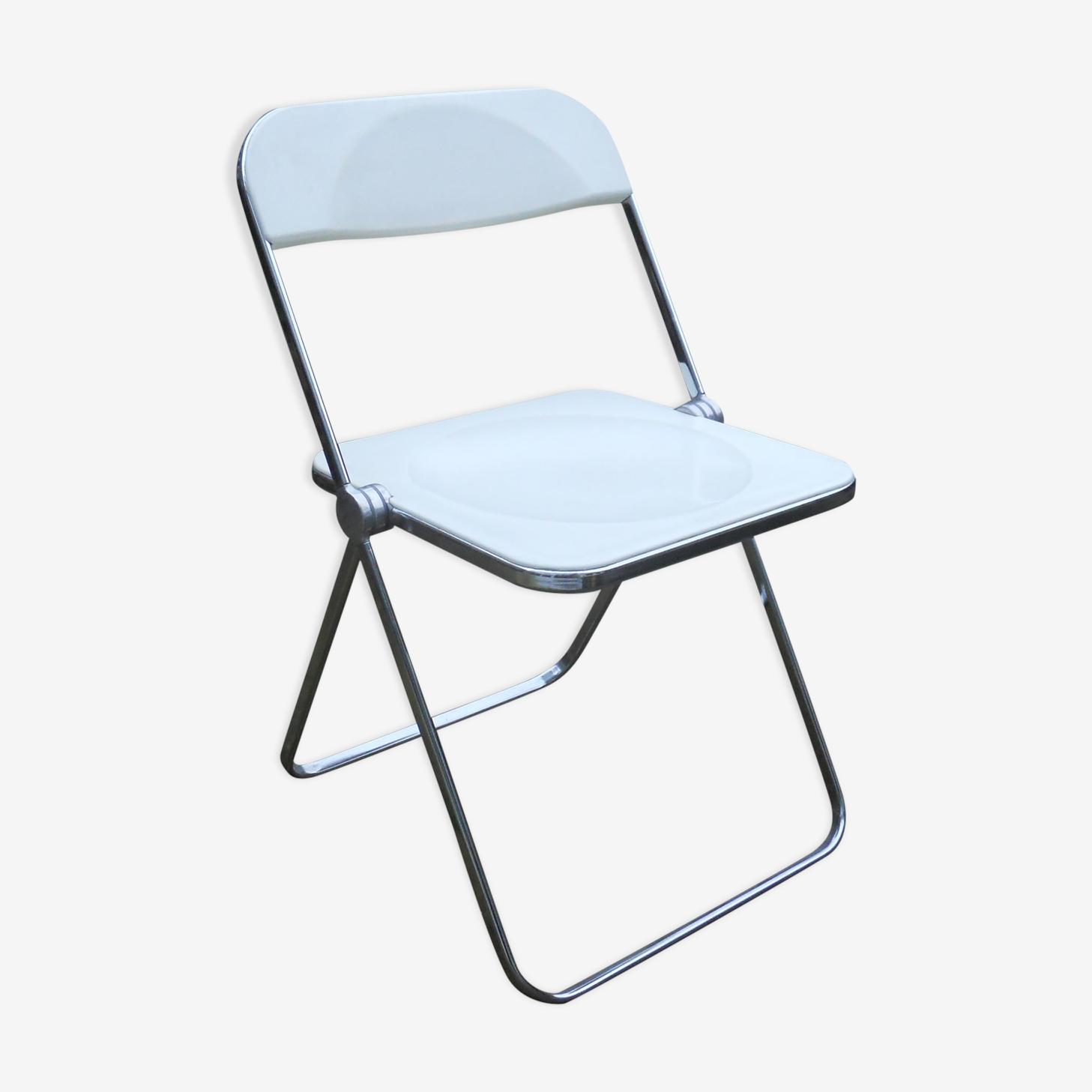 Chaise plia blanche Giancarlo Piretti