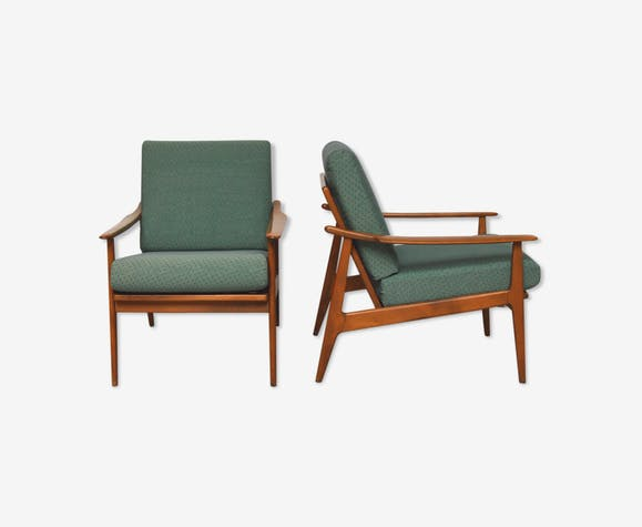 Paire de fauteuils scandinaves, 1960