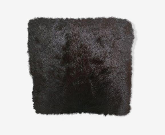 Coussin peau vache authentique
