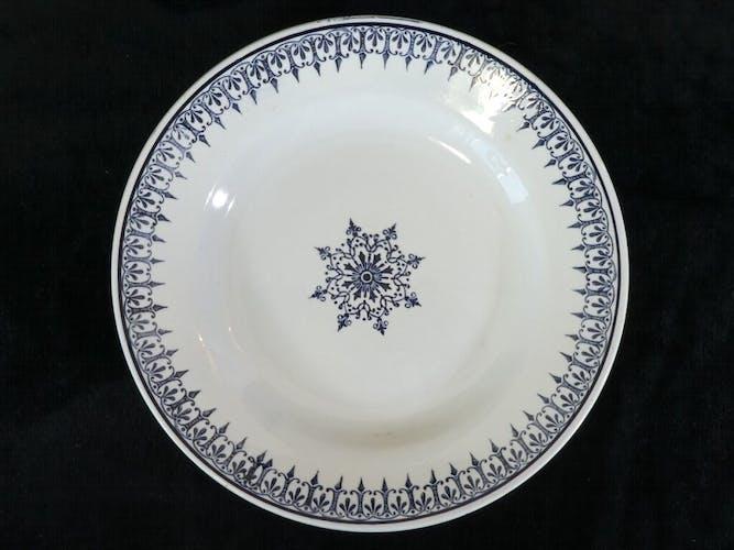 Set de 6 assiettes plates St-amand
