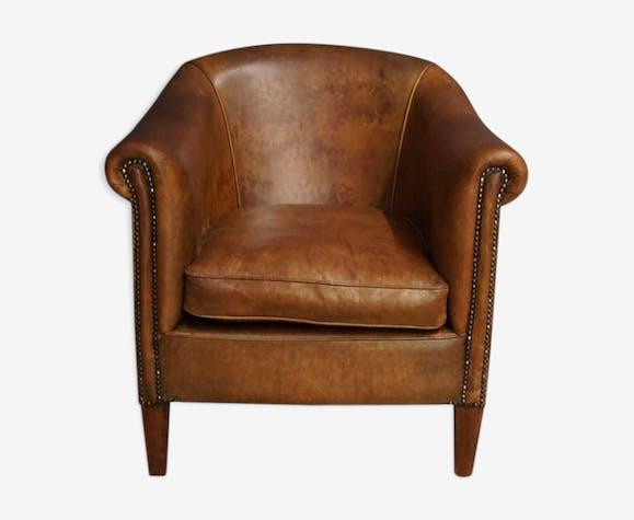 marron club Chaise classique 20ème siècle cuir du KJ3Tlcu1F