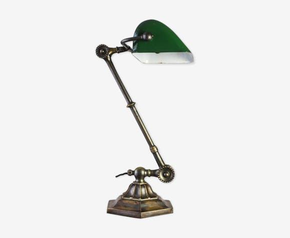 Lampe de banquier en laiton de Dugdills. c.1920