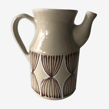 Vintage enameled ceramic pitcher