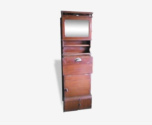 Meuble de toilette ancien pour bateau et péniche - bois ...