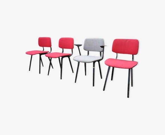 Friso Kramer revolt lot of 4 chairs 70 years
