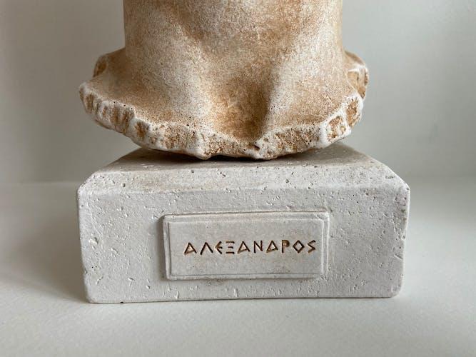 Buste en plâtre Alexandre le Grand