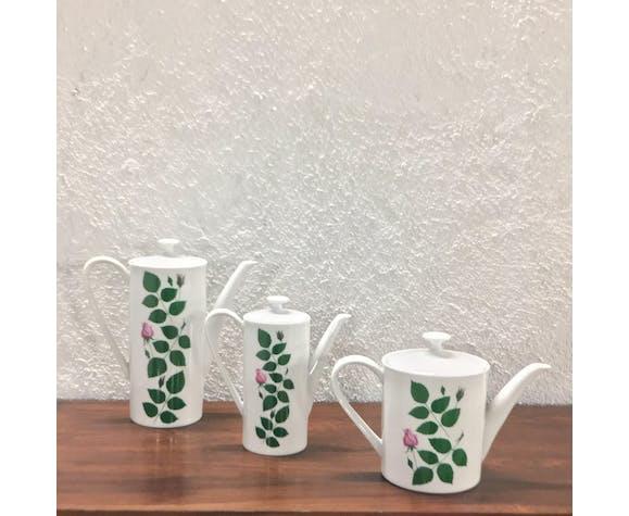 Arzberg chocolate coffee trio of teapots
