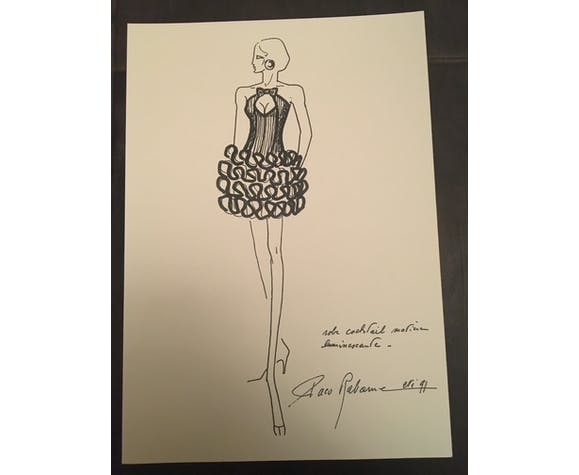 """Illustration de mode Paco Rabanne """"collection été 1991 """""""