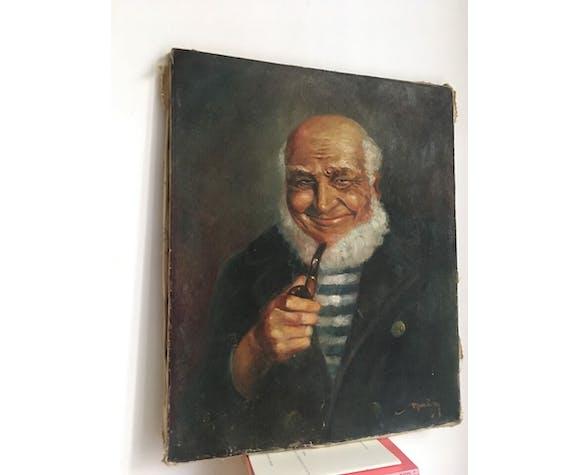 Portrait in oil former captain