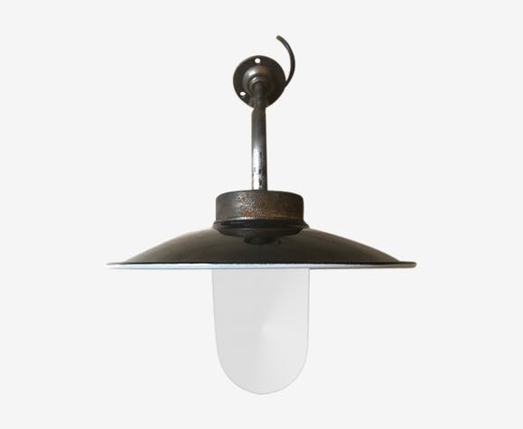 Industrial wall lamp, swan collar