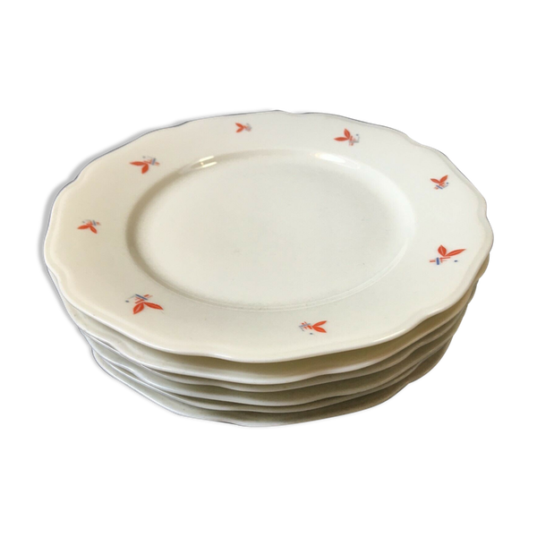 Lot de 6 assiettes a dessert Elfenbein porcelaine german Porzellan vintage