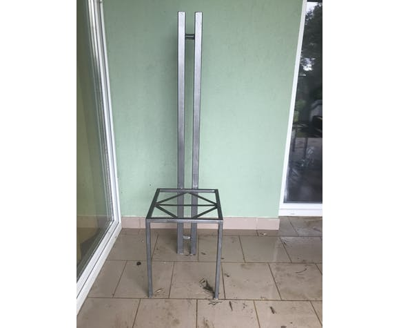 Lot of 5 contemporary forged chairs