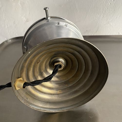 Ancienne lampe a poser en verre de clichy 1950