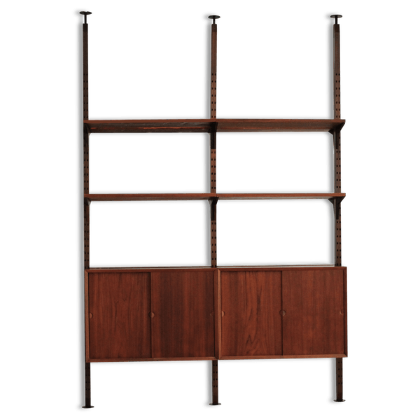 meuble de s paration de pi ce poul cadovius teck marron scandinave 85412. Black Bedroom Furniture Sets. Home Design Ideas