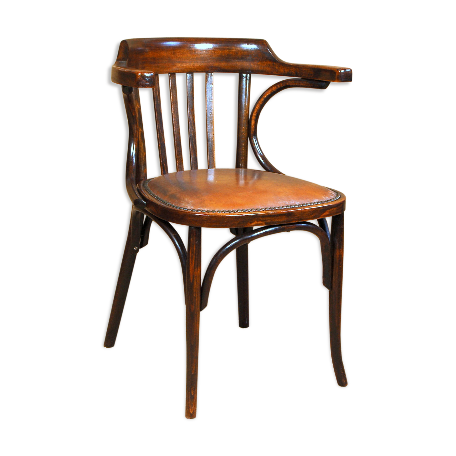 Fauteuil bureau baumann ca simili cuir bois matériau