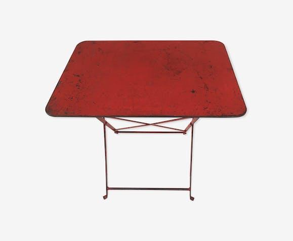 Table métal pliante vintage industriel