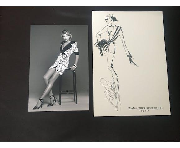 Jean-Louis Scherrer: illustration de mode & photographie de presse 1991