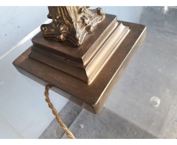 Pied de lampe en bronze st Empire néoclassique 1940