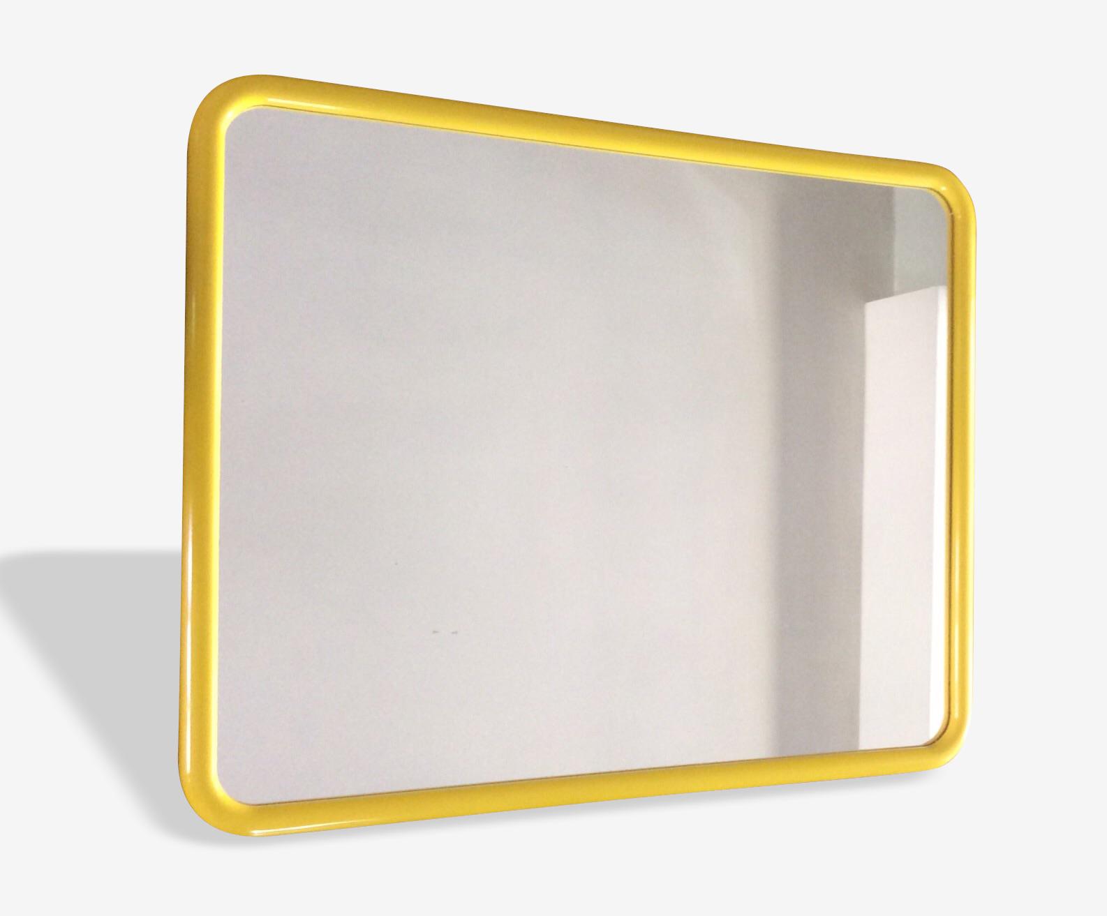 Miroir plastique jaune