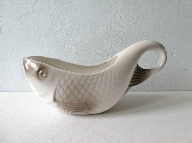 Saucière en céramique Salins, forme poisson