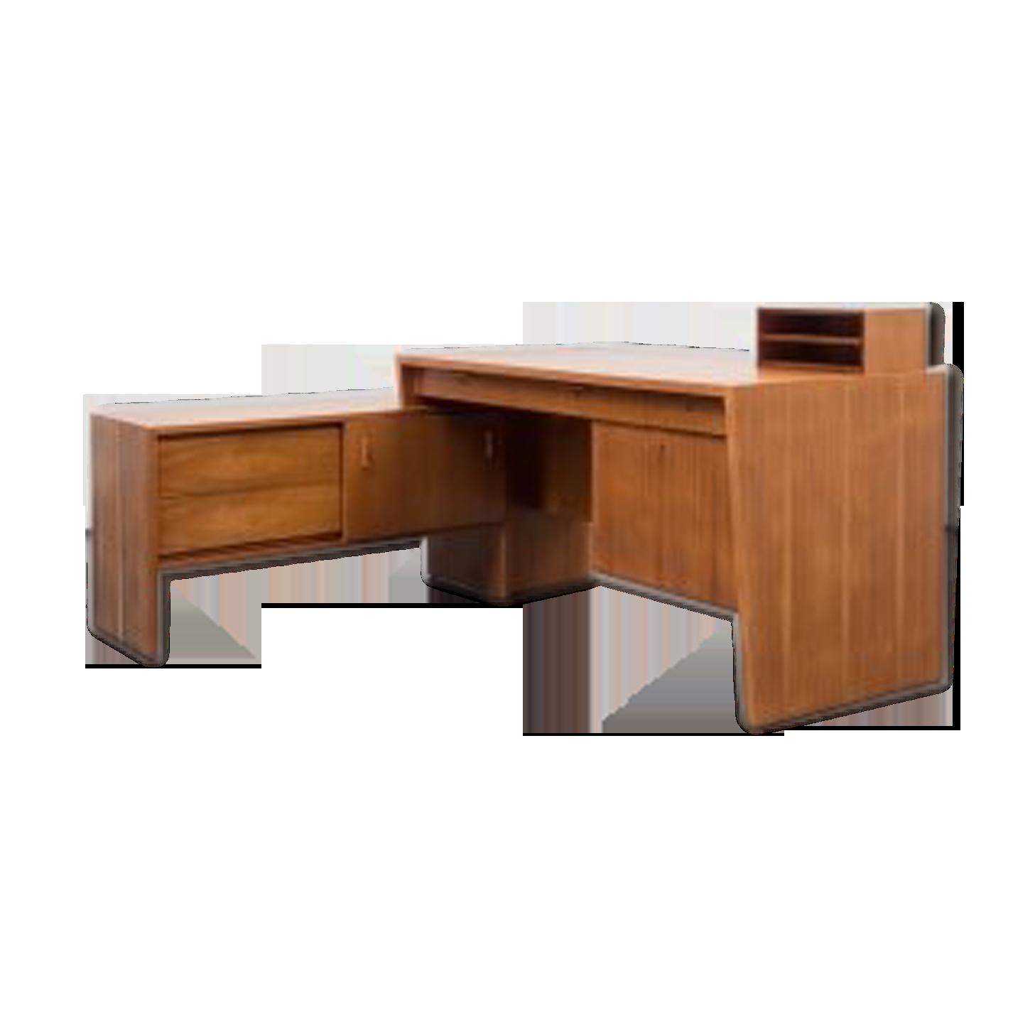 Bureau années en forme de l noyer bois matériau bois